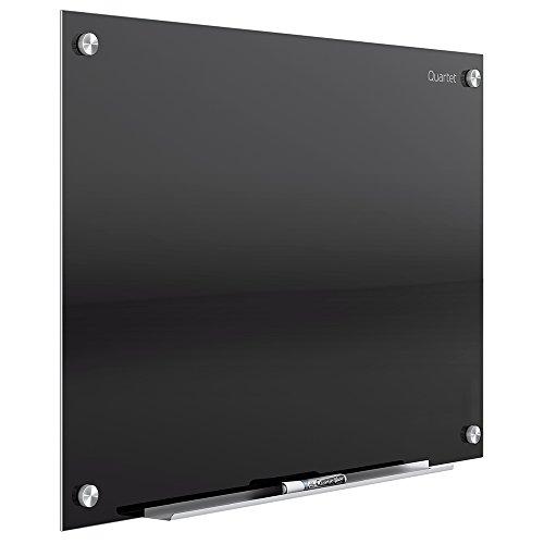 Quartet Glass Dry Erase White Board- Black Surface