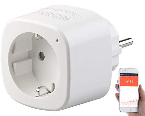 Luminea Home Control Elesion Steckdose: WLAN-Steckdose, Energiekostenmesser, App, mit Sprachsteuerung (Elesion App Bedienungsanleitung)