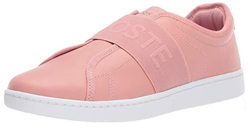 Lacoste Women's Carnaby EVO Sneaker pink/white 7 Medium US