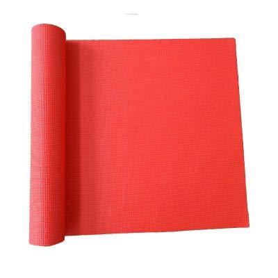 JOWY Esterillas de Yoga y Pilates para Gimnasio en casa (Rojo PVC)