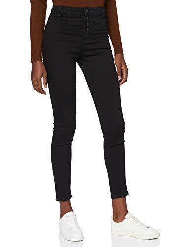 Marque Amazon - find. Jean Skinny Femme, Noir (Black Black), 36W / 32L, Label: 36W / 32L