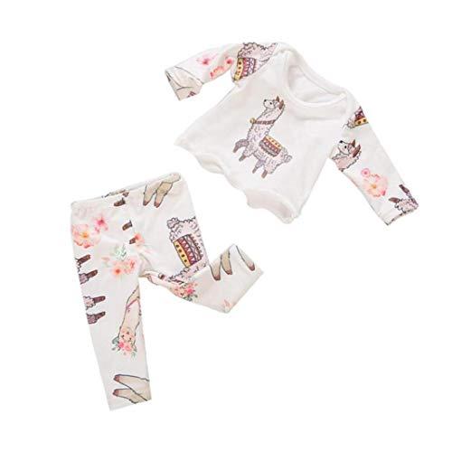 LAANCOO Puppenkleidung Schlafanzug Anzug Lammkeule Thema Pyjamas 18 Zoll Mädchen Puppe Puppe Puppe Pyjama-Set