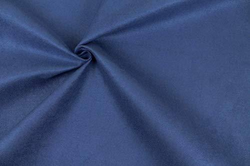 Tessuto idrorepellente simile Alcantara - Altezza 140 - Adatto per Tappezzeria - Arredamento (19 - BLU)