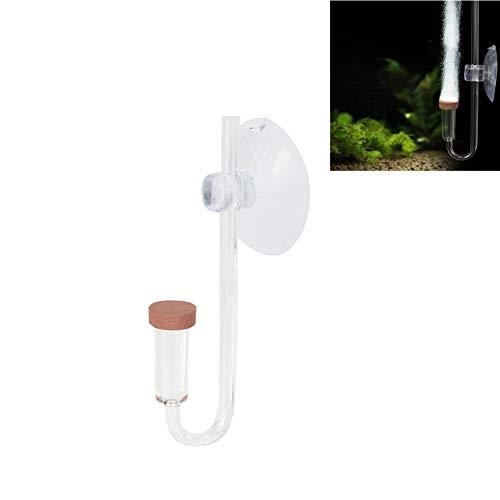 CO2 Diffusor Blasenzähler CO2 Diffusor Zerstäuber Acryl Transparent CO2 Zerstäuber Blasenzähler mit U-förmigem Verbindungsrohr für Aquarienpflanzen Wasser Gras