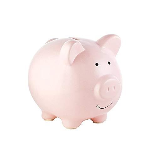feifuns Keramik Sparschwein Mini kleine süße Münze Sparbüchse Geld sparen Bargeld Spaß Geschenk Münzbank für Kinder Mädchen Jungen, Größe: 9 x 8 x 8,5 cm (L x B x H) (Rosa)