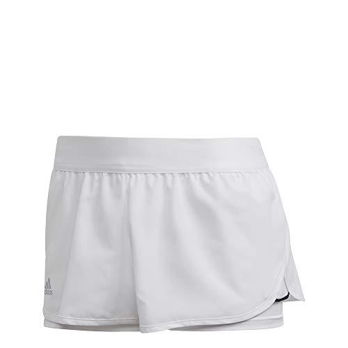 adidas Damen Kurze Hosen Club Short, Blanco/Plamat/Negro, S, FK6998