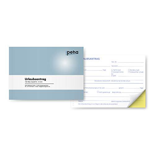 peha 31326 Urlaubsantrag A6 quer, 2x48 Blatt, selbstdurchschreibend (2 Stück)