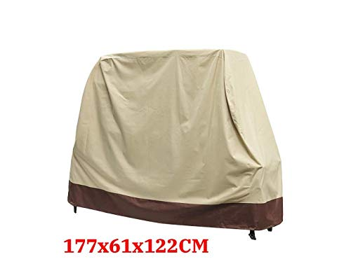EsportsMJJ 600D Oxford Cloth Beige Grill Gas Barbecue Waterproof Cover Outdoor Heavy Duty Protector - #3