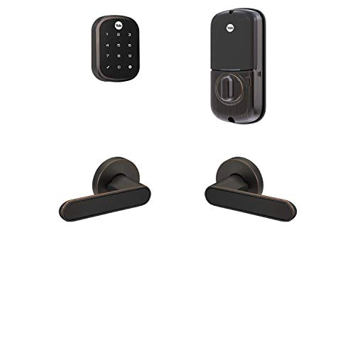 Yale Assure Lock SL, Wi-Fi Smart Lock with Kincaid BK Lever - Works with the Yale Access App, Amazon Alexa, Google Assistant, HomeKit, Phillips Hue and Samsung SmartThings, Oil Rubbed Bronze