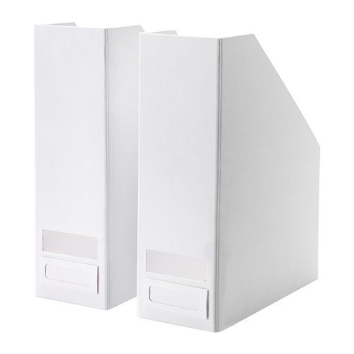 IKEA TJENA Zeitschriftensammler - weiß - 2 Stück