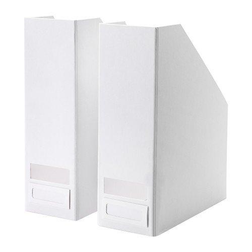 IKEA TJENA Zeitschriftensammler in weiß; 2 Stück