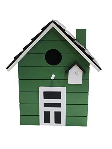 Maison d'oiseau nichoirs coloré 20cm (vert)