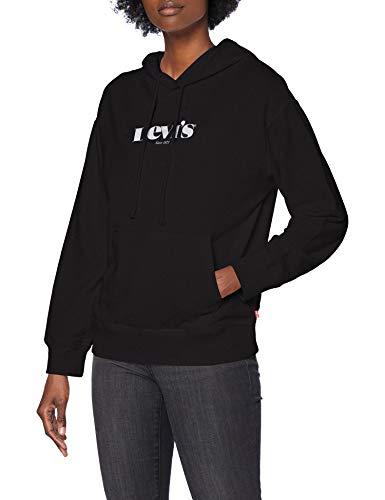 Levi's Graphic Standard Sudadera con Capucha, Hoodie New Logo II Caviar, XXS para Mujer