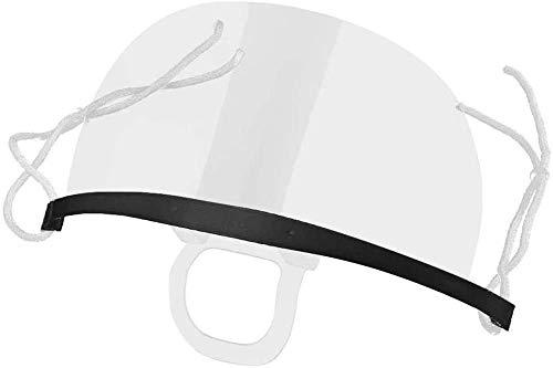 Surfilter Catering-Maske 10 Stück Durchsichtige Kunststoff-Antibeschlagmaske für Antibeschlagspray Speichelchef Spit Food Hotelküche Restaurantbedarf