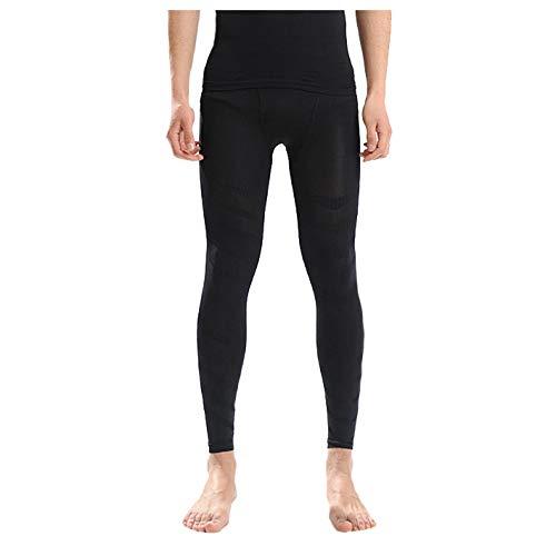 Hahashop2 Hombre Mallas Running Leggings Deporte Pantalones Largos de Compresión Pantalones Transpirables de Gran Elasticidad Pantalones para Correr de Secado Rápido