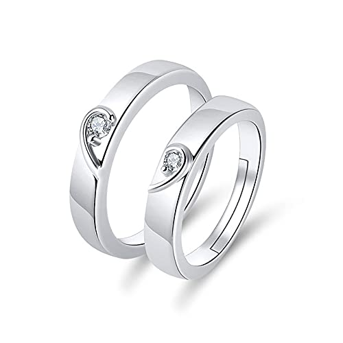 Anillos para pareja pareja anillo en forma de corazón anillo joyería