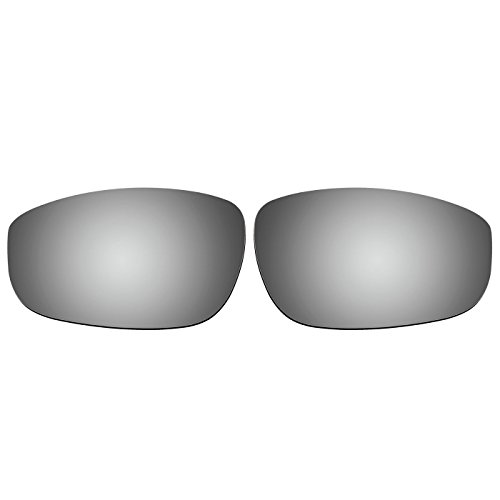 aCompatible Ersatzgläser für Oakley Fives 4.0 Sonnenbrille, Titanium Mirror - Polarized, S