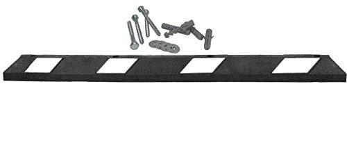 UvV UVP1 Park-It® Radstopp Set schwarz, weiß inkl. Befestigung Parkplatzbegrenzer 100% Recycling Gummi Parkbuchtabgrenzung. Original Park-It Qualität (180 cm)