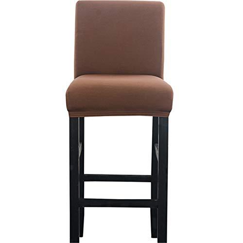 Zerci Sgabello da Bar della Sedia Elastico Sedile casa Morbido Slipcover Chair Protector, Brown, Taglia Unica (Solo Copertina, Nessuna Sedia)