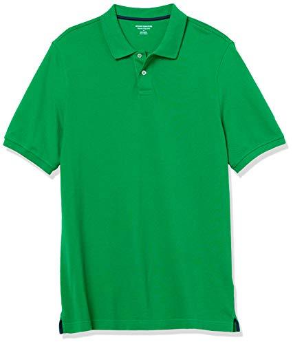 Amazon Essentials Men's Regular-Fit Cotton Pique Polo, -Green, Medium