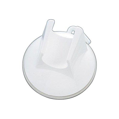 タイガークラウン 浴室用ラック 白 60×50×60mm ラウンドハンガーシャワー用 ABS樹脂 シャワー 移動 吸盤式 2438