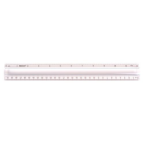 """Westcott Clear 12"""" Data Processing Magnifying Ruler, Case of 72 (500-15571)"""