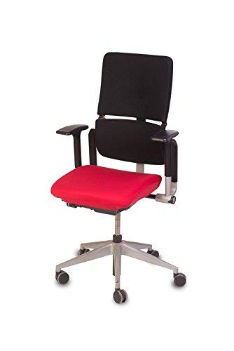 """TexDeko Bezug für Bürostuhl - Husse für Bürodrehstuhl & Schreibtischstuhl, Chefsessel, Bürosessel """"one Size fits All"""" (rot)"""