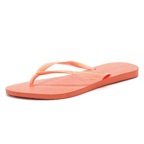 Havaianas Slim, Chanclas Mujer, Naranja (Orange Cyber 6678),