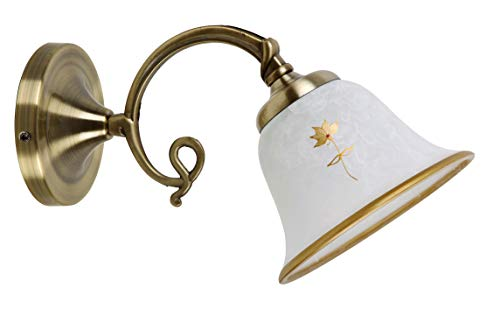 Art Flower wandlampen klassiek metaal en glas brons/gerecycled glas en cement E14 40 Watt