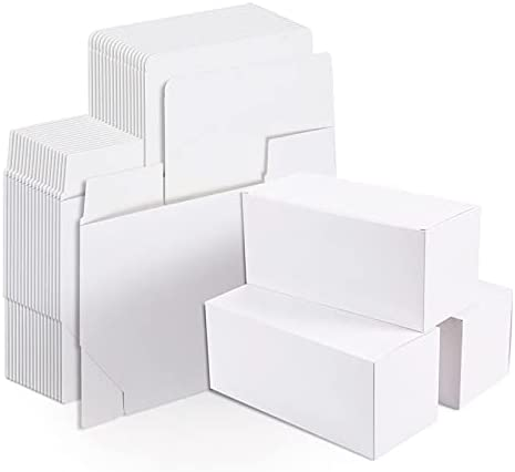 Seasonal Wrap Introduction Super beauty product restock quality top Unknown1 20 White Gift Boxes Paper Container for Party Rectangle