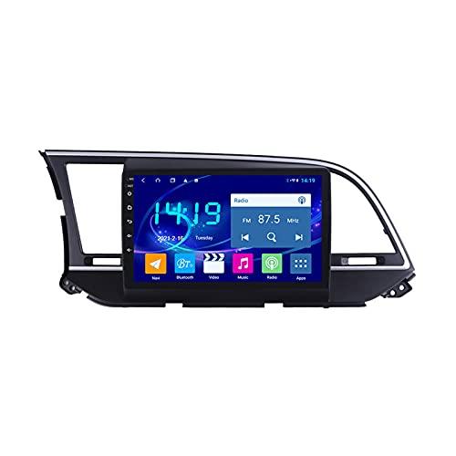 MGYQ Reproductor Multimedia para Coche Pantalla Táctil De 9 Pulgadas, para Hyundai Elantra 6 2016-2018 con Cámara De Visión Trasera, Soporte Bluetooth/FM/AUX IN/Mirror Link/SWC,Quad Core,WiFi 1+32