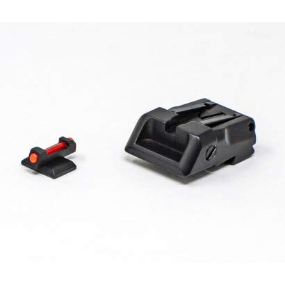 Fusion Firearms Compatible with Kimber - Adjustable Sight Set - RED Fiber Optic, Black Target
