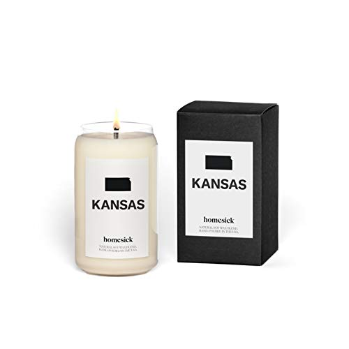 Homesick Scented Candle, Kansas - Scents of Lime, Grass, Cotton, 13.75 oz