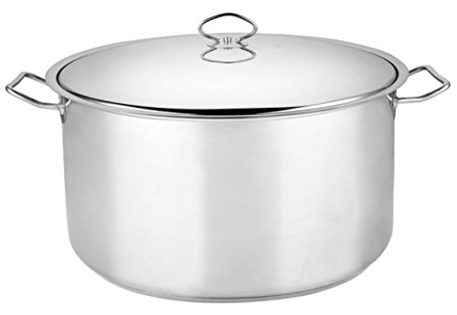 All Metal Large Family Size 55 Quart Stainless Steel Dutch Oven Stock Pot Olla Caserola