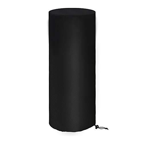 Tonhui Cubierta de radiador para Enders Polo 2.0, cubierta de calefacción 210D Oxford, impermeable, resistente al viento, protección negra, redonda, 50 x 50 x 120 cm