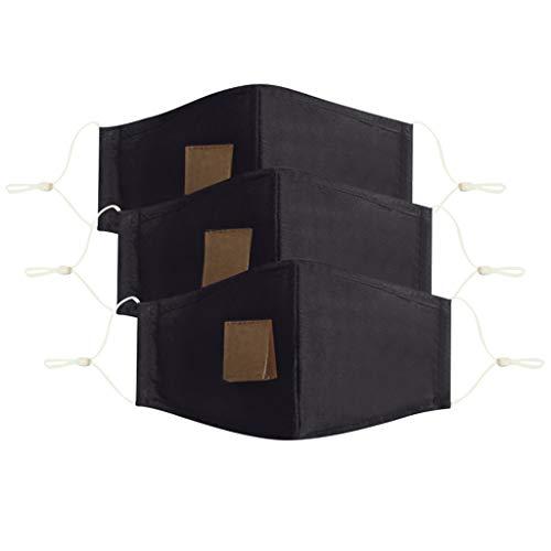 ZWXIN 3pc Adult protective m& & nase staubdichte baumwolle mit perforiertem strohgetränk halbbedeckendes gesicht kopftuch reiten abendessen ausrüstung