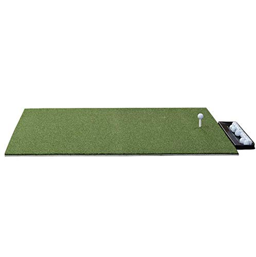 DURA-PRO Premium Residential Golf Mat - 4x5 Feet Premium Turf Indoor Outdoor Mat - Golf Stance Mat for Pros & Beginners w Golf Accessories (Golf Tray + 3 Rubber Golf Tees)