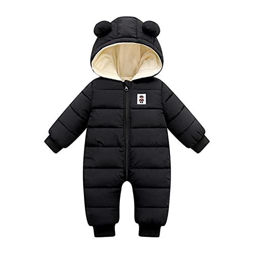 YWLINK Bebé Invierno Mamelucos Con Capucha, NiñAs NiñOs Ropa Traje De Nieve Manga Larga Fleece Monos Outfits Peleles Calentar Abrigo Mono de Plumón Regalos 0-24 Meses