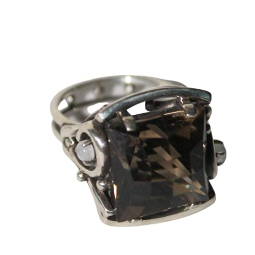 price Faceted smokey quartz silver ring Max 71% OFF