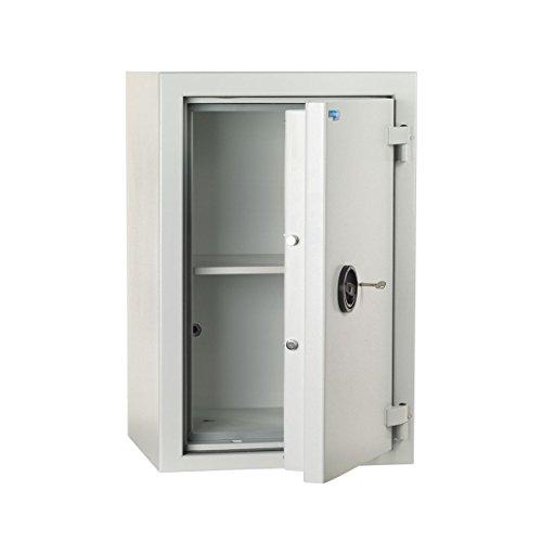Wertschutzschrank FZ500, Stufe S2, EN 14450, HxBxT 821x542x487 mm, Doppelbartschloss, Lichtgrau