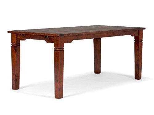 massivum Esstisch Texas 140x76x89 cm aus Massiv-Holz Palisander und Akazie braun lackiert dunkel Sheesham