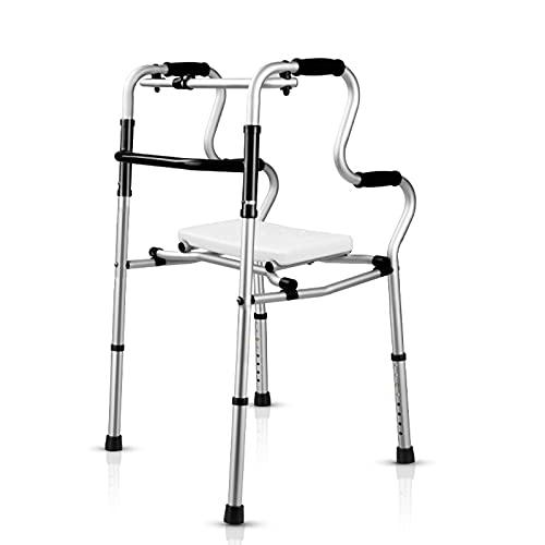 KANGLE-DERI Gehhilfe Für Ältere Menschen Mit Sitz, Tragbarem Kleinkinderstuhl, Klappbarer Armlehne, Mobiler Rollator Für Ältere Und Behinderte Menschen.