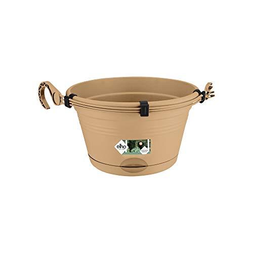 Elho Green Basics Hängeampel 28 - Blumentopf - Mild Tonrot - Draußen & Balkon - Ø 27.8 x H 15.9 cm