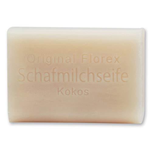 Florex Schafmilchseife - Kokos - hochwertige Seife mit exotischem Duft verwöhnt die Haut 100 g