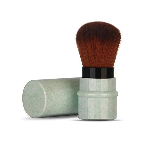 Brocha de maquillaje de rubor en polvo de cara corta con mango...