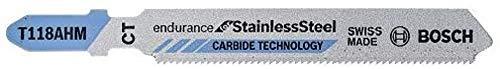 Bosch Pro Stichsägeblatt Special for Inox zum Sägen in rostfreien Stahl (T 118 AHM) 3 Stück