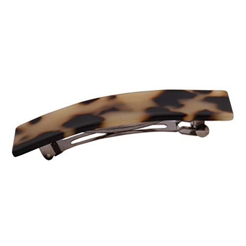Lurrose acryl haarspelden luipaardepatroon retro haarspelden haarspelden hoofdtooi haarspelden klauw bananenclips voor feest dagelijks gebruik haarstyling (koffie) 9,5 * 2,5 cm Afbeelding 1.