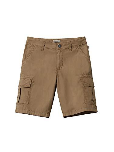 Napapijri Jungen K NOTO 2 Shorts, Braun (Kangaroo Brown W051), 164 (Herstellergröße:14)