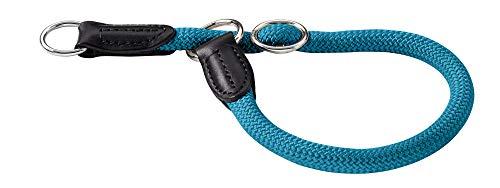 HUNTER Freestyle Dressurhalsung, Hundehalsband, Zugstopper, robust, wetterfest, 60 (L-XL), petrol