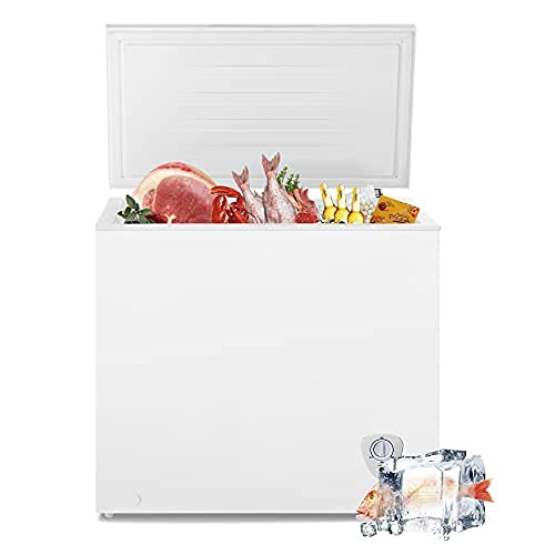 SMETA Chest Freezer 7 Cu.Ft, Deep Freezer Thermostat Control, Freezer Chest with Removable Baskets, Quite Compact Freezer, Small Freezers for Apartments in White